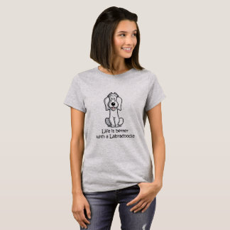 Het leven is Beter met een Labradoodle T Shirt
