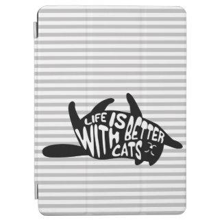 Het leven is beter met katten   Typografie van de iPad Air Cover
