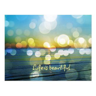 Het leven is de Mooie Zonsopgang van het Strand Briefkaart