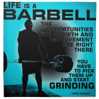 Het leven is een Barbell - Inspirerend de Servet