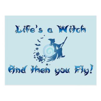 Het leven is een Heks Briefkaart