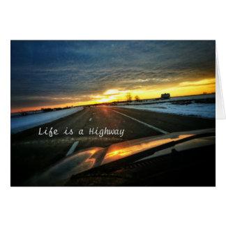 Het leven is een Kaart van de Weg