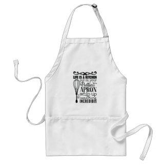 Het leven is een keuken standaard schort