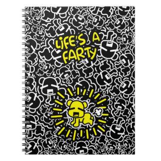 Het leven is een Notitieboekje Farty Ringband Notitieboek
