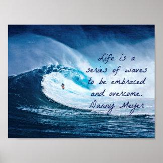 Het leven is een reeks golven poster