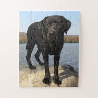 Het leven is een Strand - Zwart Labrador Legpuzzel