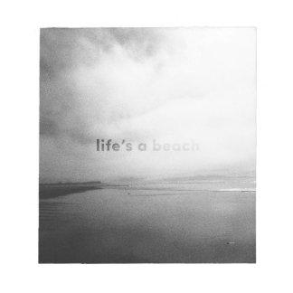 Het leven is een Strand - Zwart-witte Kladblok
