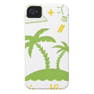 Het leven is een Vakantie iPhone 4 Hoesje