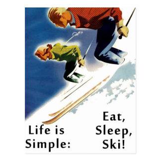 Het leven is Eenvoudig eet het Briefkaart van de