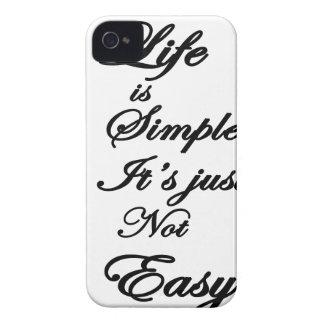 het leven is eenvoudig het is niet gemakkelijk iPhone 4 hoesje