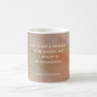 Het leven is geen probleem - koffiemok