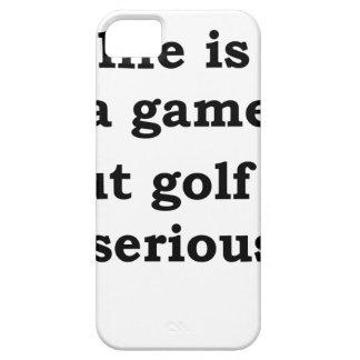 het leven is gmae maar het golf is ernstig barely there iPhone 5 hoesje