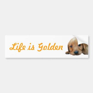 Het leven is Gouden Bumpersticker