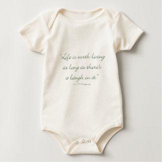 Het leven is levend de moeite waard zolang Er een Baby Shirt