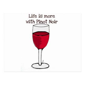 Het LEVEN IS MEER MET de wijndruk van de PINOT Briefkaart