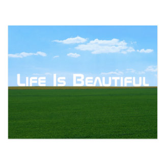 """Het """"leven is Mooi"""" Landschap Briefkaart"""