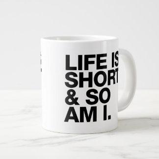 Het leven is plotseling & zo geweest het Grappige Grote Koffiekop