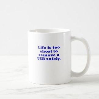 Het leven is te Kort om USB veilig te verwijderen Koffiemok