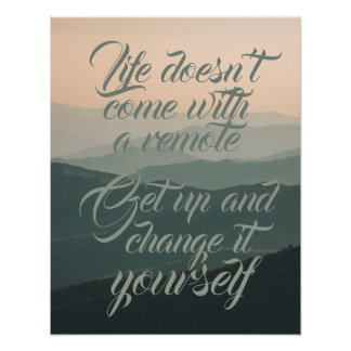 Het leven komt niet met een Verre Verandering het Poster