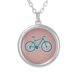 het leven op wielen - fietsen zilver vergulden ketting