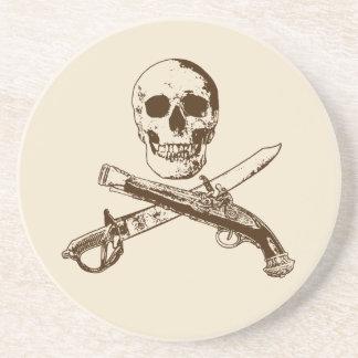 Het leven skullcoaster_1 van Piraten Zandsteen Onderzetter