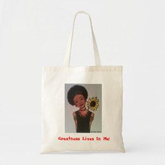 Het Leven van de grootheid in me! Canvas tas