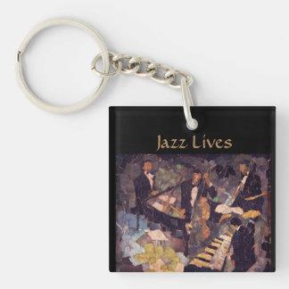 Het Leven van de Muziek van de jazz - het Kwartet Sleutelhanger