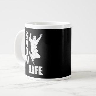 Het LEVEN van de SNEEUW #3 (wht) Grote Koffiekop