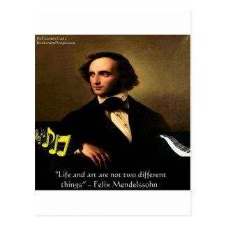 Het Leven van Felix Mendelssohn is de Giften & de Briefkaart
