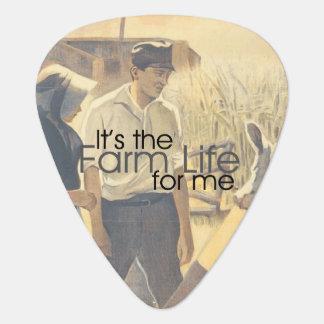 Het Leven van het Boerderij van het T-SHIRT Plectrum