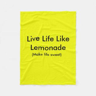 Het leven van het leven zoals limonadedeken fleece deken