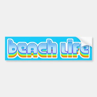 Het Leven van het strand Bumpersticker