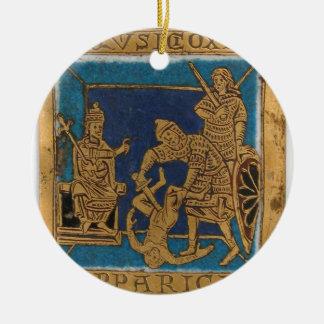 Het leven van Jesus Rond Keramisch Ornament