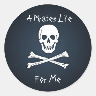 Het leven van Piraten voor me Ronde Sticker