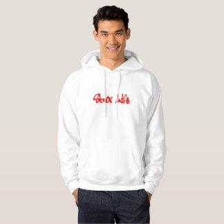 Het Leven van Skux: Rood Logo Graffiti Hoodie