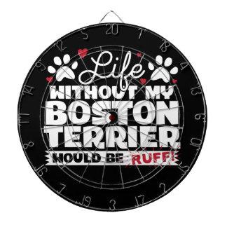 Het leven zonder mijn Boston Terrier zou Kemphaan Dartbord