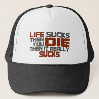 Het leven zuigt trucker pet