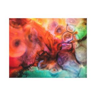 Het levendige eigentijdse abstracte schilderen canvas afdruk