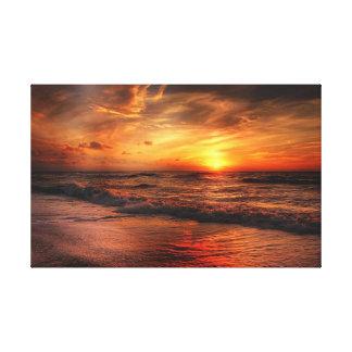 Het levendige Oranje Canvas van de Zonsondergang