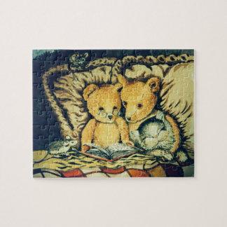 Het Lezen van teddyberen Legpuzzel