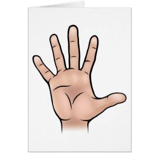 Het Lichaamsdeel van de hand Briefkaarten 0