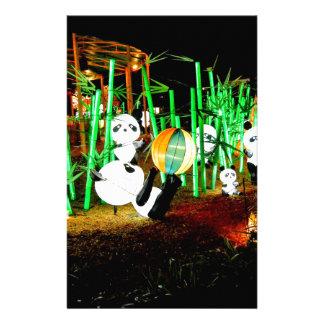 Het Licht van de Tuin van de panda op de Briefpapier