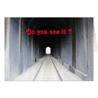 Het Licht van de tunnel Wenskaart