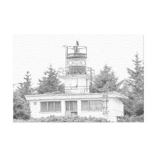 Het Licht van het Eiland van de Wacht van Alaska Canvas Print