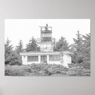 Het Licht van het Eiland van de Wacht van Alaska Poster