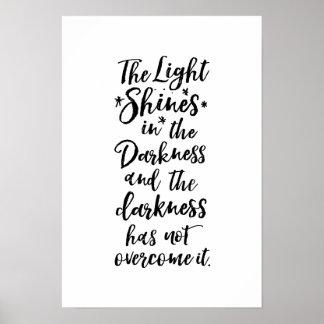 Het Licht van het Vers van de bijbel in het Poster
