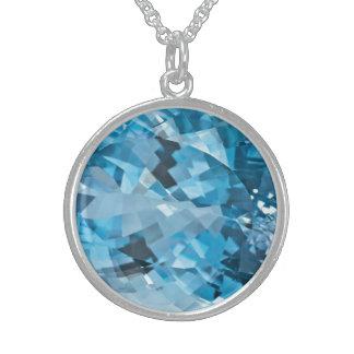 Het lichtblauwe Aquamarijn Maart Birthstone van de Sterling Zilveren Kettingen