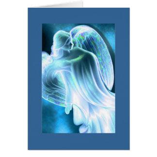 Het lichtblauwe Wenskaart van de Engel