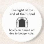 Het lichte Grappige Spreuk van de Tunnel Drankjes Onderzetter