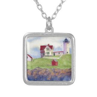 Het Lichte Huis York Maine van het brokje Zilver Vergulden Ketting